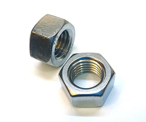 """3/8""""-16 Hex Nuts (100 Pack) - Choose Size, By Bolt Dropper, Zinc Plated"""