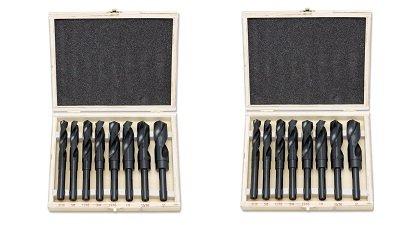 """(Hiltex 10005 HSS Silver and Deming Industrial Drill Bit Set, 8 Pieces 