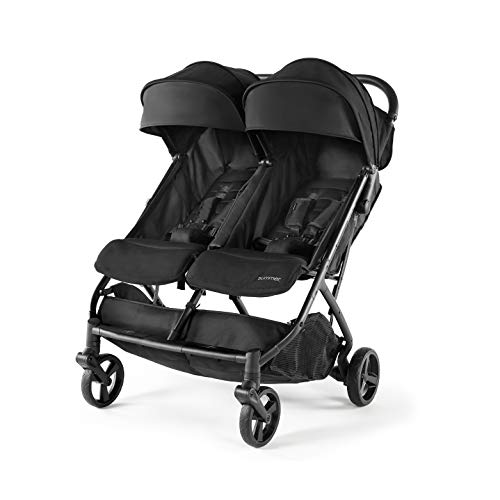Summer Infant 3DPac CS+ Double Stroller, Lightweight One-Hand Compact Fold, Carseat Compatible