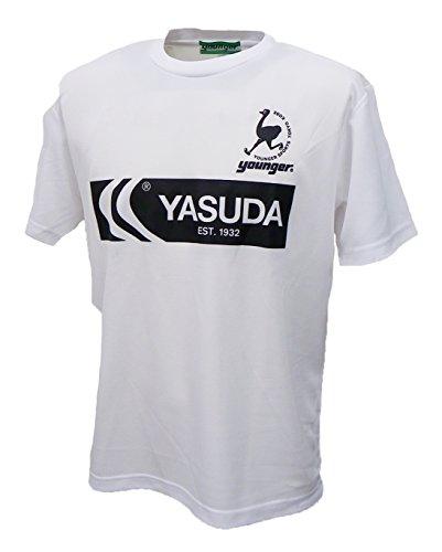 未亡人美容師サイドボードヤンガー(Younger) ヤンガー×ヤスダ コラボ商品 2018SS プラクティス Tシャツ YXY605-WH-O ホワイト O