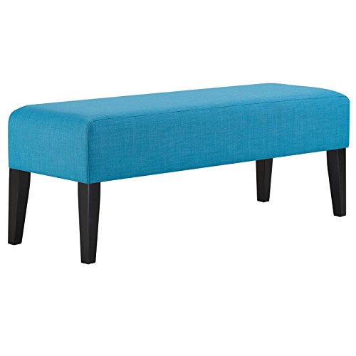 Modway EEI-2556-PUR Connect Plush Polyester Upholstered Contemporary Bench, Pure Water Review