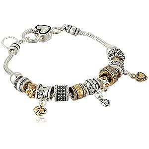 """Heart Line Charm Bracelet, 8"""""""