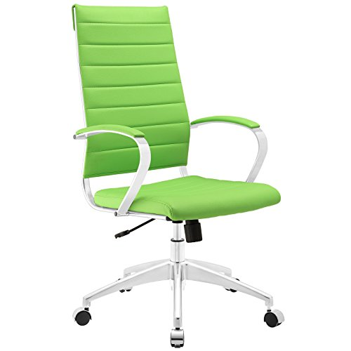 Modway Jive Ribbed High Back Tall Executive Swivel Office Chair With Arms In Bright -