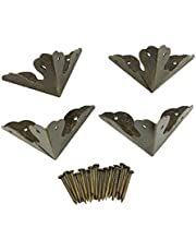 4pcs Vintage Brass Edge Guard Wooden Box Table Cabinet Trunk Corner Protector Solid Metal Furniture Decor