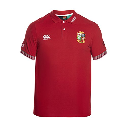 - Canterbury British and Irish Lions Rugby Vapodri Cotton Pique Training Polo - Adult - Tango Red - X-Small