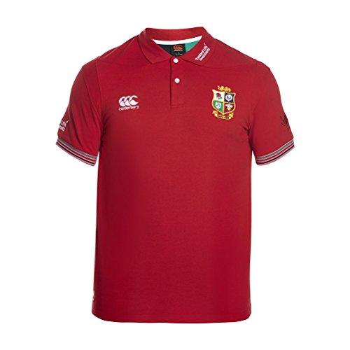 Canterbury British and Irish Lions Cotton Pique Training Polo Shirt - AW16 - Medium - Red