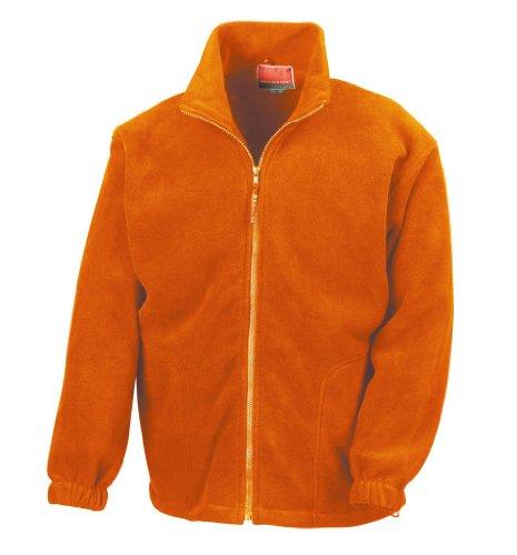 Active Fleece Jacke mit durchgehendem Reißverschluss XXL,Orange