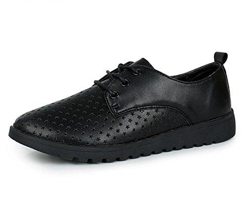 Komfortable weichen Sohlen Schuhe Frauen Schuhe hohle breathable beiläufige Schuhe Sportschuhe Spitze Schuhe Singles black