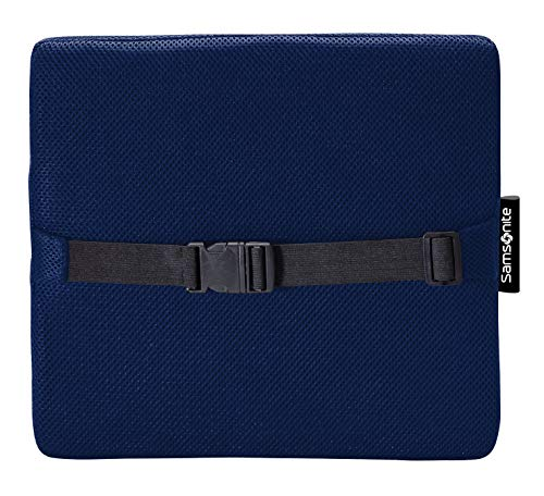 Samsonite SA5294 Lumbar Support/Navy Ergonomic Pillow-Helps Relieve Lower Back Pain-100% Pure Memory Foam-Improves Posture-Fits Most Seats-Breathable Mesh-Washable Cover-Adjustable Strap by Samsonite (Image #6)