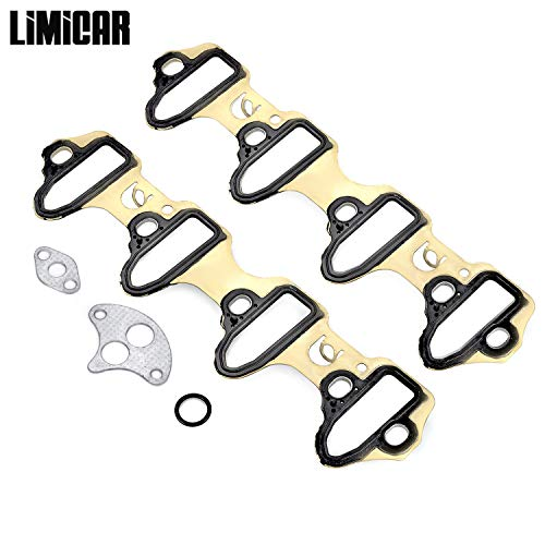 LIMICAR Intake Manifold Gasket Set MS98016T Compatible with Chevrolet Avalanche Silverado Suburban Tahoe GMC Sierra 4.8L 5.3L 6.0L Chevrolet Intake Manifold Gasket