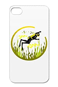 Scuba Diver Frogman Sports Frog Man Ocean Sea Weed Miscellaneous Scuba Tank Dive Yellow For Iphone 4 Case