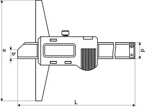 DIN862 CNC QUALIT/ÄT Digital Tiefen-Messschieber Messbereich 200 mm DIGITALANZEIGE