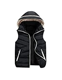 Uirend Girls Boys Coats Sleeveless Padded Removable Hooded Quilted Child Gilet