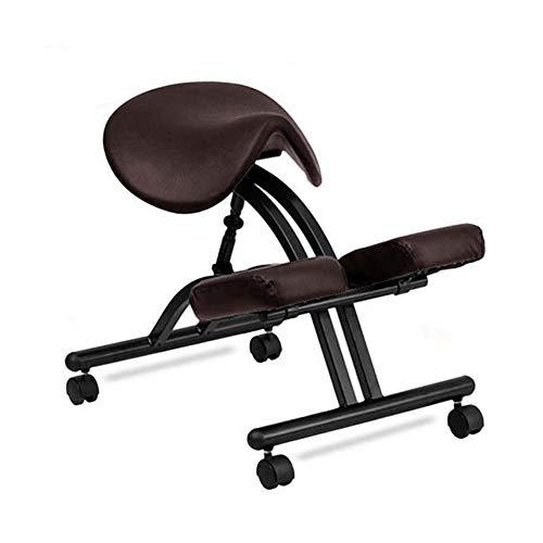 Frisörstol stylingstol salong stol frisör knästol med hjul knäpall ergonomisk hållning korrigerande stol för badrum rygg, kontor och hem arbetsstol