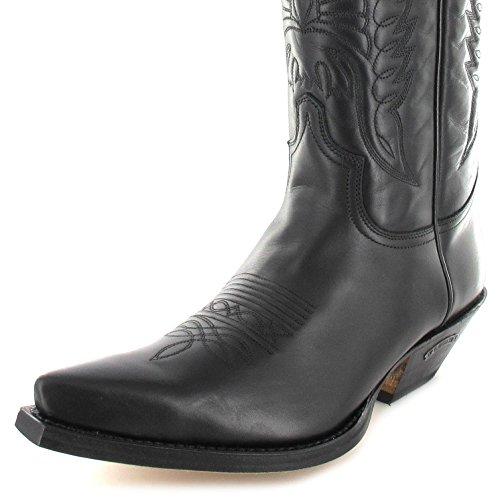 Negro Stivali adulto Boots unisex Pull western Nero 2073 Sendra qap8U