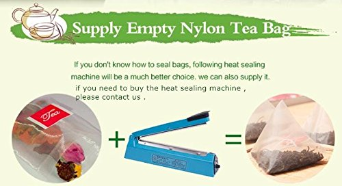 Lucklovely Empty Heat Sealing Nylon Triangle Filter Tea Bags for Loose Tea 5g 50Pcs by Lucklovely (Image #5)
