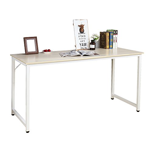 SogesHome Computer Desk 55'' PC Desk Office Desk Workstation for Home Office Use Writing Table, White Maple SH-JJ-MP-140 by SogesHome