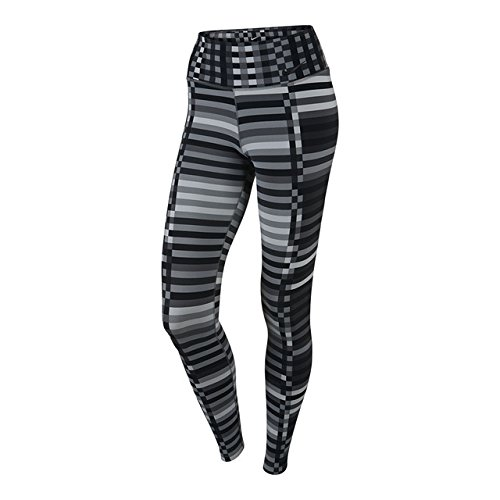 Nike Legendary Engineered Lattice Tight Women's Training Pants, Cool Grey/ Black, Small