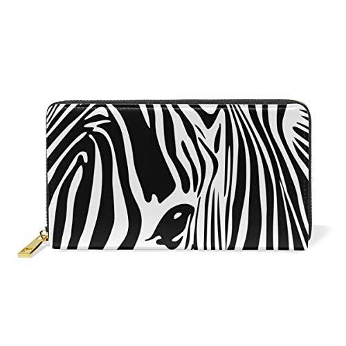 Women Wallet Purse Abstract Animal Zebra Art Clutch Bag Zipper Leather ()