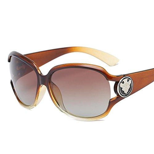 Caja QZ Polarizada De Bicolor Tea Gafas Marrón Moda Protección Miopía Espejo De Sol Luz Color Grande HOME UV Conducción De w4pxRqw8g