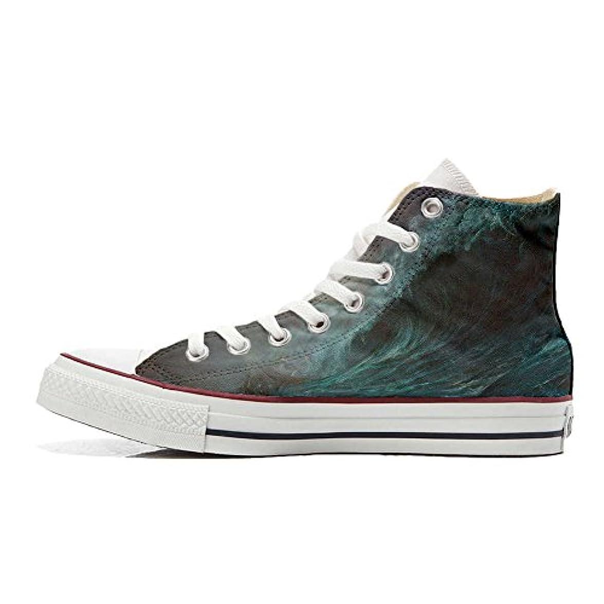 Converse Personalizzate All Star Sneaker Unisex scarpa Artigianale Perfect Wave - Tg41