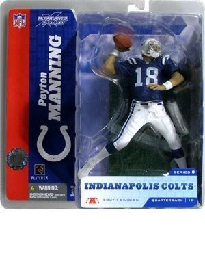 Peyton Manning#18 Indianapolis Colts Blue Jersey Action Figure McFarlane NFL Series 8