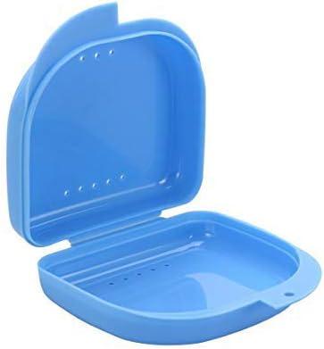 Dientes Dental Caso plástico Portable dentadura Caja Dental de ortodoncia de retención de la dentadura Caso Retenedores Envase-Blue 1pc: Amazon.es: Deportes y aire libre