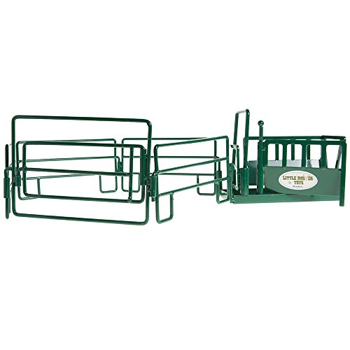 (Little Buster Toys Green Cattle Squeeze Chute Play Set)