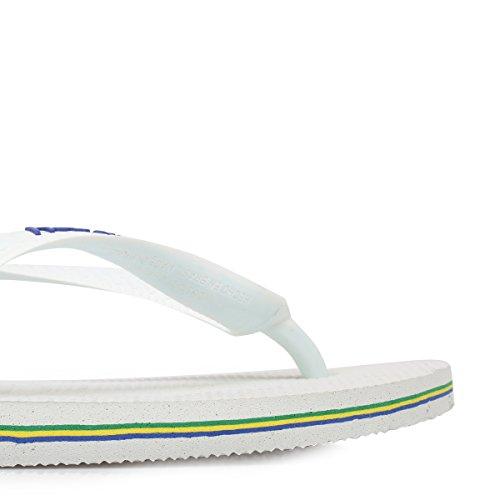Tongs 4 Blanc UK Logo Brasil Unisex 3 Havaianas xqOR8f8