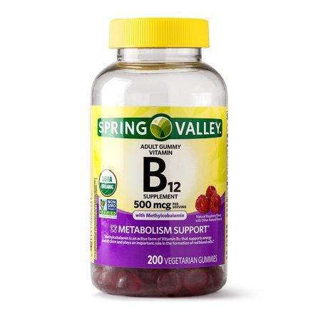 SPRING VALLEY B12, 500 MCG, 200 GUMMIES