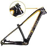 TRIFOX 27.5/29er Gold Carbon Fiber Mountain Bike Frame Carbon MTB Bicycle Frame 31.6mm Thru Axle Compatible