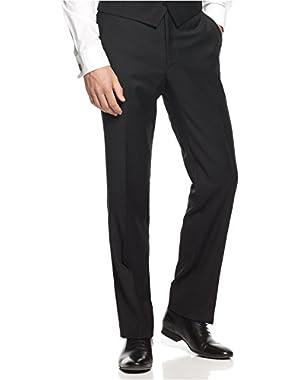 Calvin Klein Pants Black Solid Flat Front Wool New Men's Dress Pants