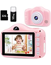 $30 » Kids Camera- 12MP Kids Digital Camera with 3.5 inch Large Screen for 3-12 Year Old Girls & Boys, 1080P HD Kids Video Camera Recorder for Christmas Birthday Gifts with 32GB SD Card, SD Card Reader