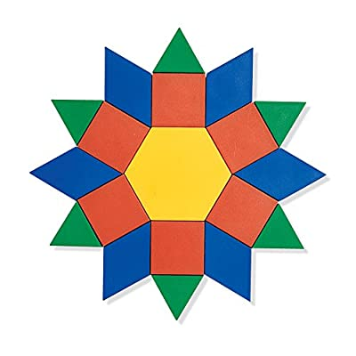 Learning Resources Wooden Pattern Blocks (250) and Pattern Block Design Cards