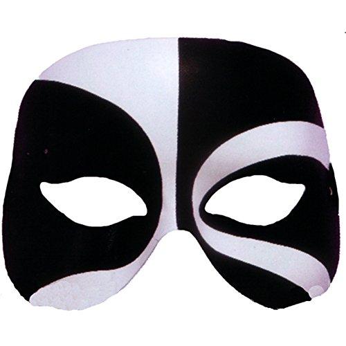 Forum Mardi Gras Masquerade Costume Voodoo Half Mask, Black/White, One (Voodoo Mask)
