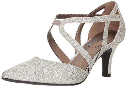 LifeStride Women's Seamless Pump, Soft Gold, 10 W US (Dress Width Shoes Ladies Wide)