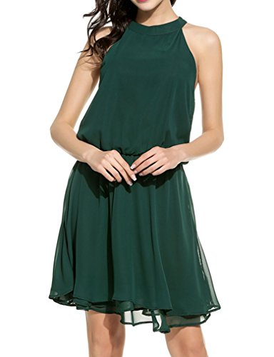 Womens Summer Chiffon Sleeveless Halter
