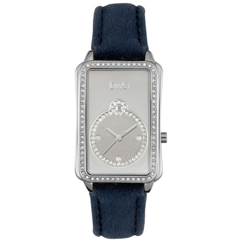 D&G Dolce & Gabbana Women's DW0116 Blue Sea Crystal Accented Watch