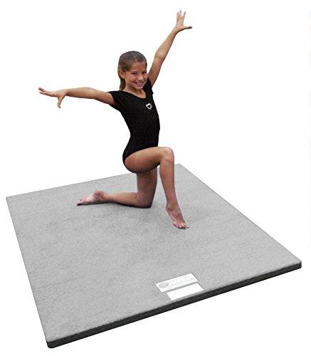 "4'x6'x1 3/8"" Dollamur Flexi Roll Carpeted Cheer/Gymnastics Mat"