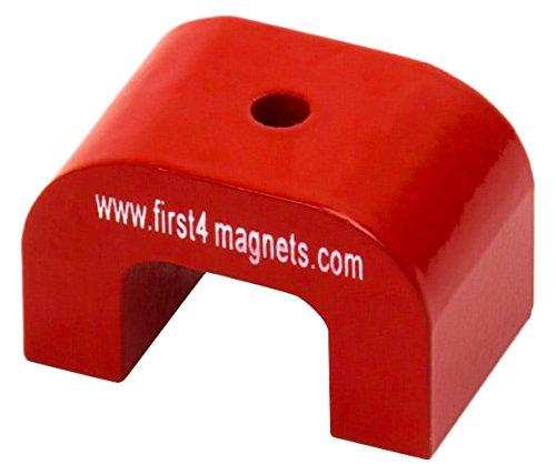 First4magnets kleiner roter AlNiCo Hufeisenmagnet - 4,5 kg Anziehungskraft 30 x 20 x 20 mm 1 Stü ck-Packung, F4M811-1