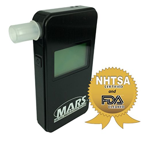 MARS Portable Alcohol Breath Tester- Professional Grade- Accurately Measures Breath Alcohol Content- Personal Breath Alcohol Tester Displays Accurate BAC Results in Seconds by PAS Systems International (Image #4)
