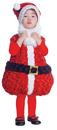 Santa Claus Costumes For Toddler (UHC Christmas Santa Claus Plush Holiday Theme Party Toddler Kids Child Costume, L (2T-4T))