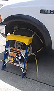 Auto Step, 3 Step, Step Stool,tire Step,straps to Wheels and Tires, Step Ladder for Trucks and Suv.