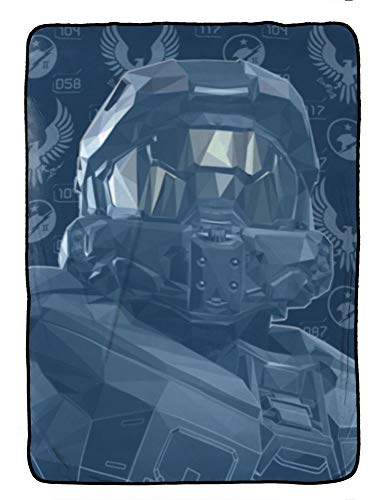 Jay Franco Halo Duty & Honor Blanket - Measures 62 x 90 inches, Kids Bedding Features The Master Chief - Fade Resistant Super Soft Fleece - (Official Product)