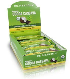 Amazon.com: Dr. Mercola: Cacao Mandioca barras de caja (12 ...