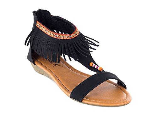 Ankle Victoria Summer Spaghetti Gladiator Black Flats Sandals Women K Thongs awHrqazZ