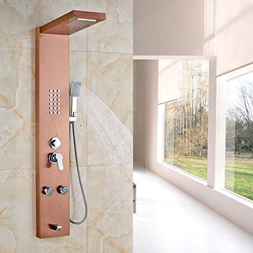 Ducha de baño Grifo de Gama Alta de Oro Rosa Panel de Ducha y ...