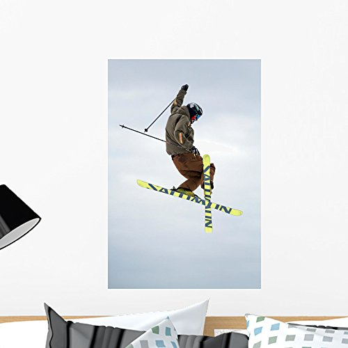 Wallmonkeys FOT-2589531-24 WM130681 Ski Rider Peel and Stick Wall Decals (24 in H x 16 in W), Medium