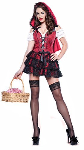 Racy Red Riding Hood Costume (Racy Red Adult Costume - X-Small)