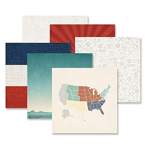 (Scenic Route Paper Pack (12/PK) of 12x12 Double-Sided Printed Paper by Creative Memories)